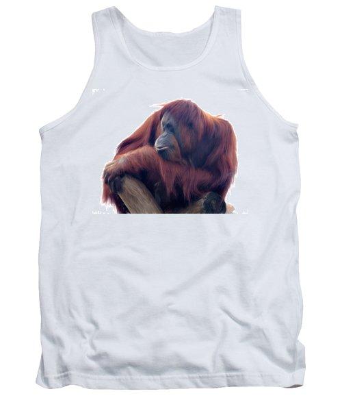 Orangutan - Color Version Tank Top by Lana Trussell