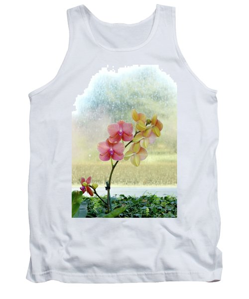 Orchid In Portrait Tank Top