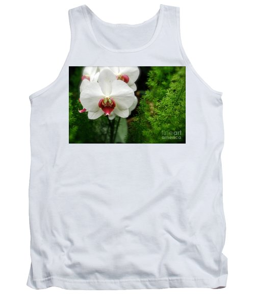 Orchid White Tank Top by Brian Jones