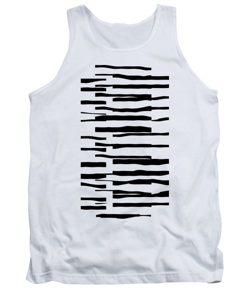 Organic No 13 Black And White Line Abstract Tank Top