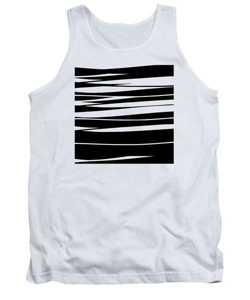 Organic No 9 Black And White Tank Top