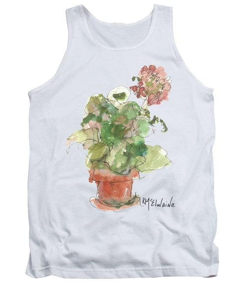Original Buspaintings Geranium Watercolor Painting By Kathleen Mcelwaine Tank Top