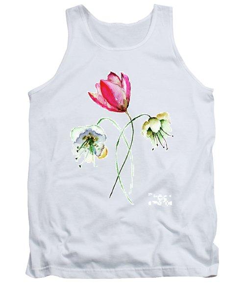 Original Summer Flowers Tank Top
