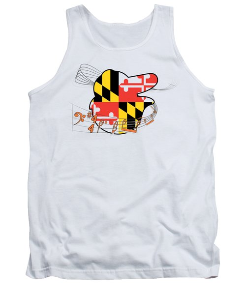Oriole Sheet Music Design Tank Top by Justin Canose