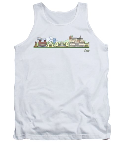 Oslo Skyline Colored Tank Top