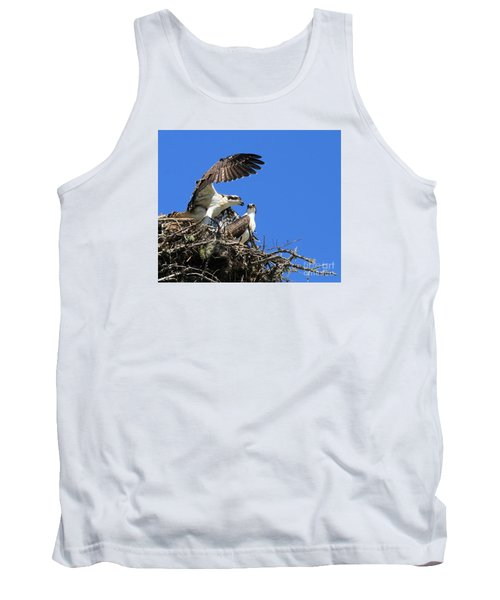 Tank Top featuring the photograph Osprey Chicks Ready To Fledge by Debbie Stahre
