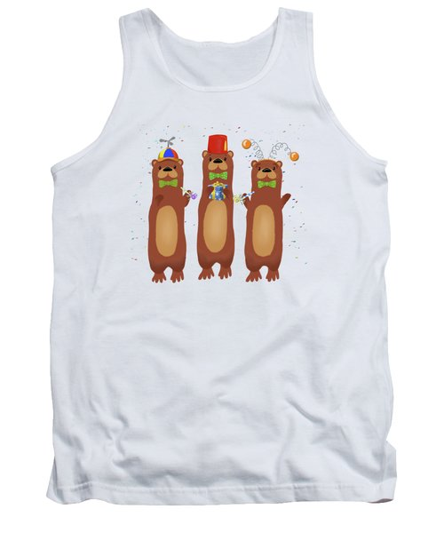 Otter Party And You Are Invited Tank Top by Little Bunny Sunshine