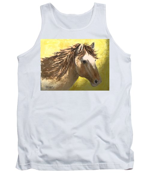 Tank Top featuring the painting Out Of The Sun by Carol Grimes