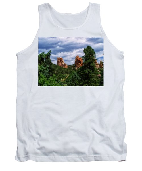 Tank Top featuring the digital art outcroppings in Colorado Springs by Chris Flees