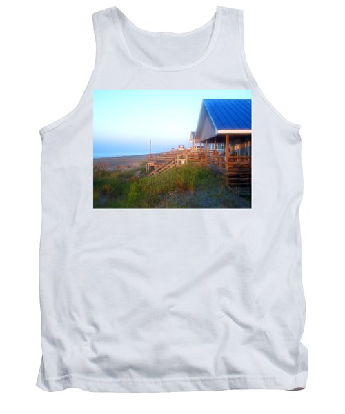 Tank Top featuring the photograph Outerbanks Sunrise At The Beach by Sandi OReilly