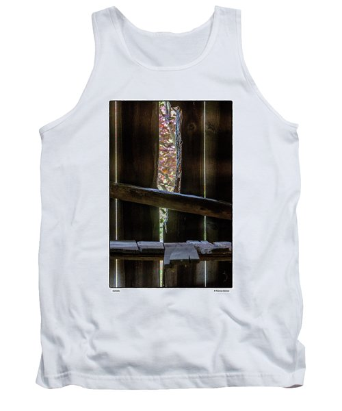 Tank Top featuring the photograph Outside by R Thomas Berner