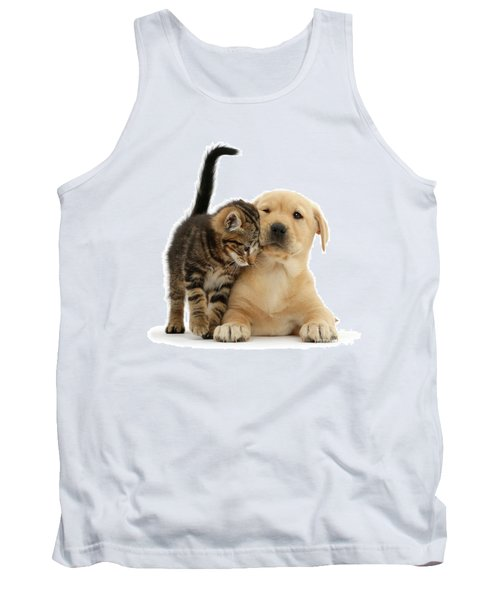 Over Friendly Kitten Tank Top