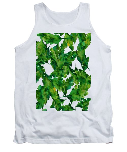 Overlapping Leaves Tank Top by Cortney Herron