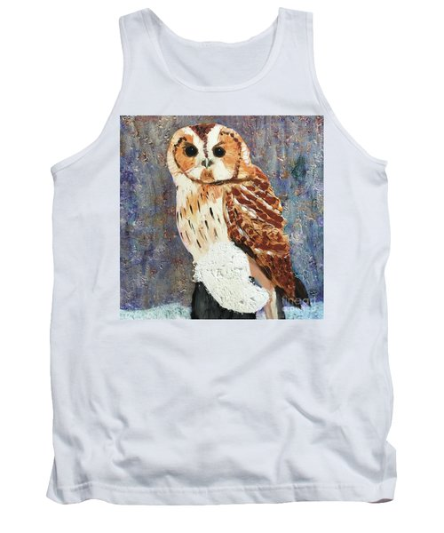 Owl On Snow Tank Top by Donald J Ryker III