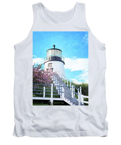Owl's Head Light In Early June Tank Top