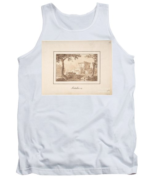 Oxcart Approaching A Fortified Building Tank Top