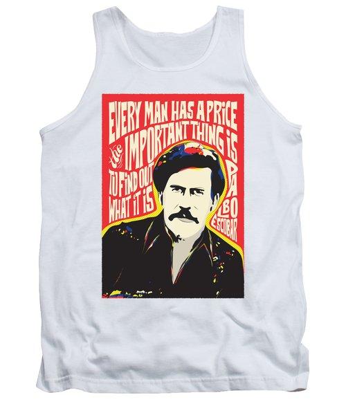 Pablo Escobar Pop Art Quote Tank Top