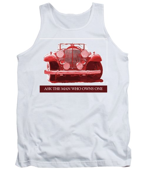 Packard Ask The Man Red Tank Top