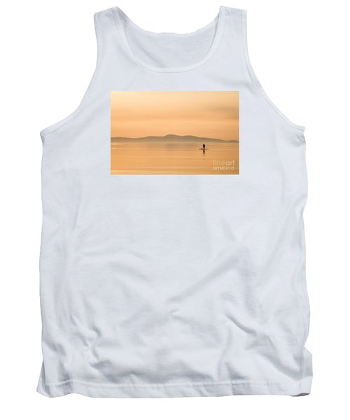 Paddle Boarding At Sunrise Tank Top