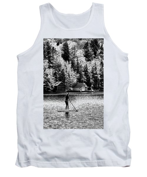 Paddleboarding On Old Forge Pond Tank Top