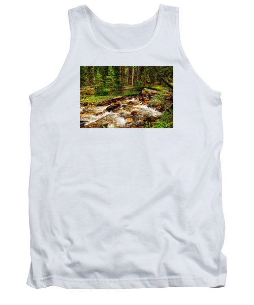 Tank Top featuring the photograph Pahsimeroi Cascades by Greg Norrell