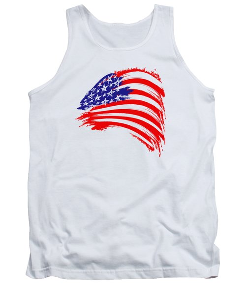 Painted American Flag Tank Top