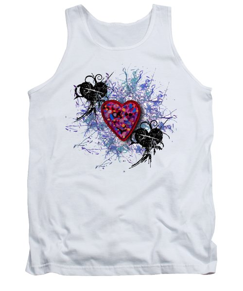 Tank Top featuring the digital art Painted Heart 3 by Christine Perry