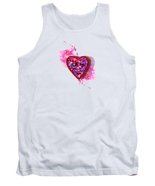 Tank Top featuring the digital art Painted Heart by Christine Perry