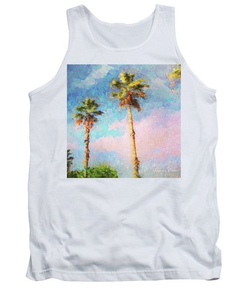Painted Palms Tank Top