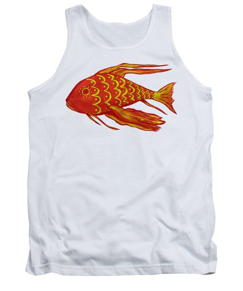 Painting Red Fish Tank Top