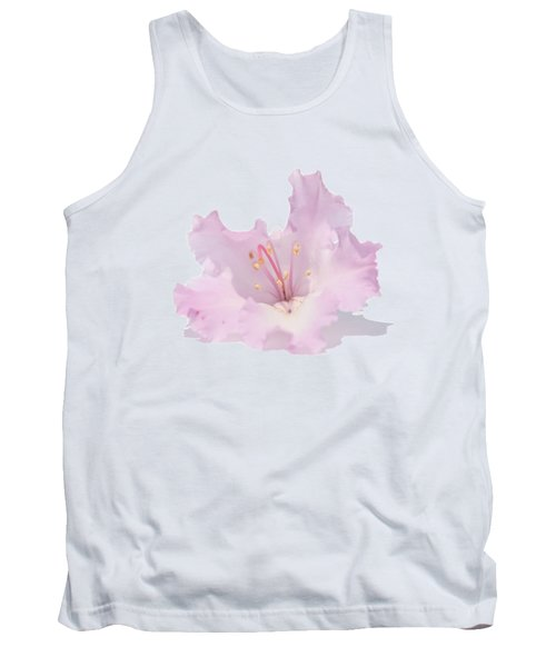 Pale Pink Rhododendron On Transparent Background Tank Top