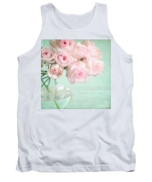 Pale Pink Roses Tank Top