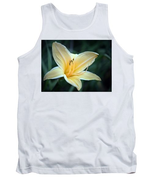Pale Yellow Day Lily Tank Top