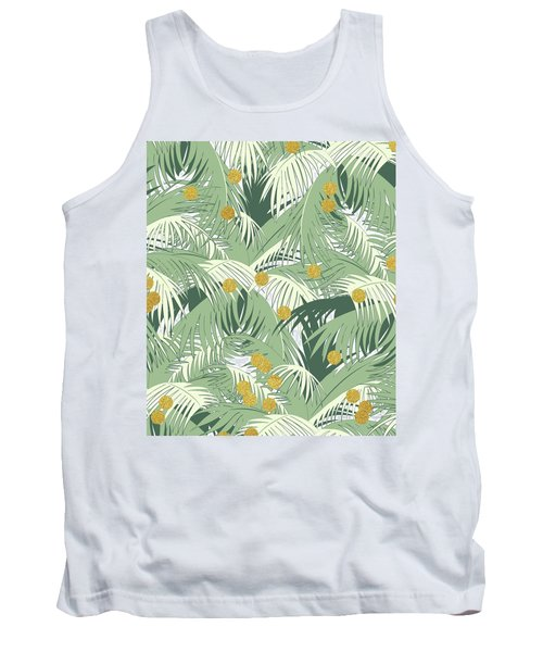Palm And Gold Tank Top