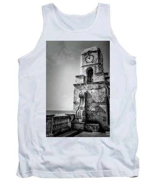 Palm Beach Clock Tower In Black And White Tank Top