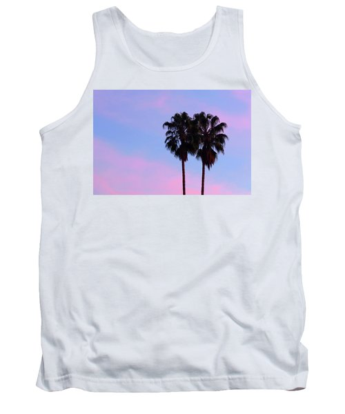 Palm Trees Silhouette At Sunset Tank Top