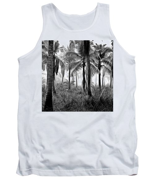 Palm Trees - Black And White Tank Top