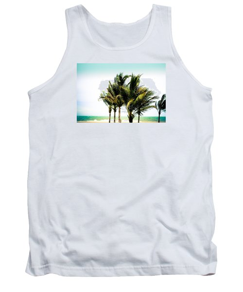 Tank Top featuring the photograph Palm Trees Ocean Breeze by Colleen Kammerer