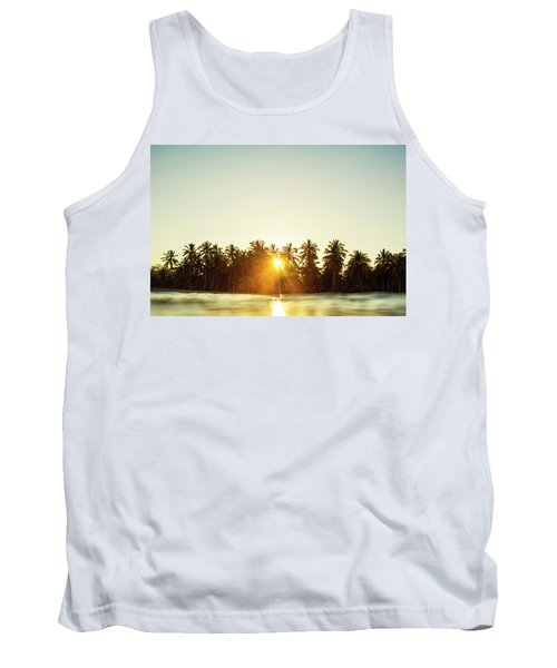 Palms And Rays Tank Top