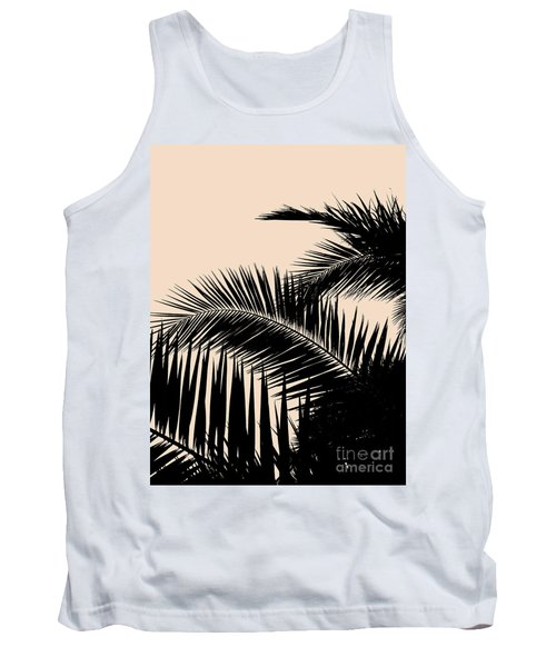 Palms On Pale Pink Tank Top