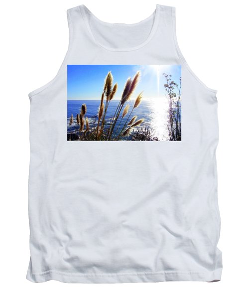Pampas Grass And The Pacific 2 Tank Top by Jodie Marie Anne Richardson Traugott          aka jm-ART