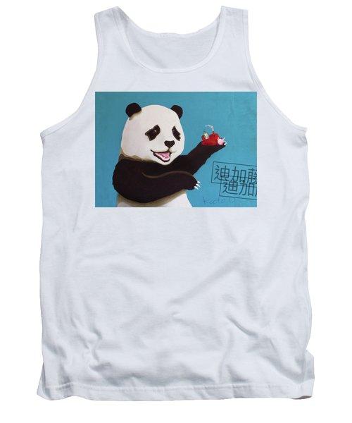 Panda Joy Blue Tank Top