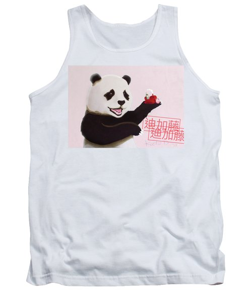 Panda Joy Pink Tank Top