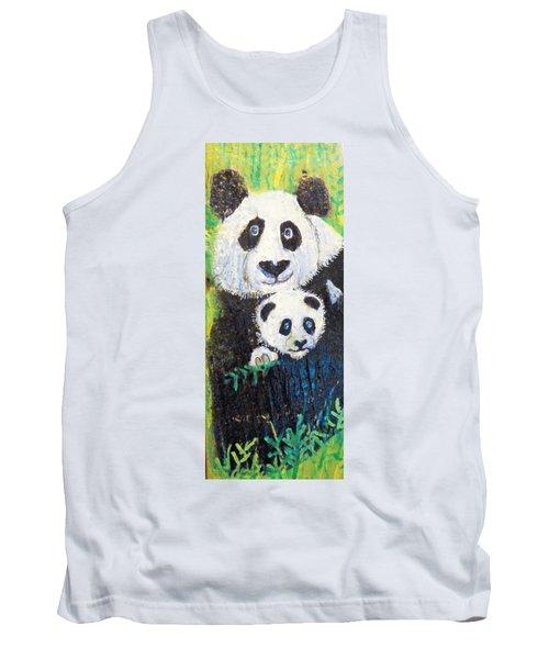 Panda Mother And Cub Tank Top