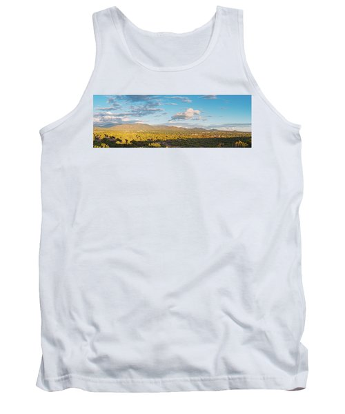 Panorama Of Santa Fe And Sangre De Cristo Mountains - New Mexico Land Of Enchantment Tank Top