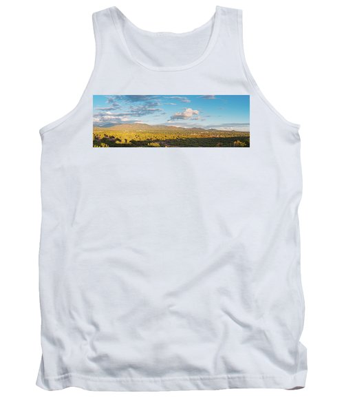 Panorama Of Santa Fe And Sangre De Cristo Mountains - New Mexico Land Of Enchantment Tank Top