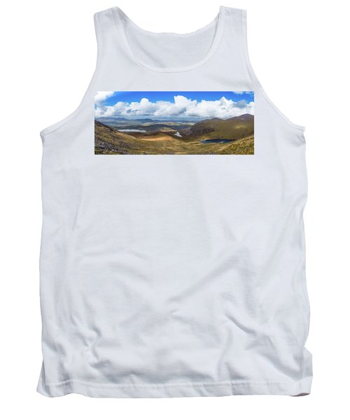 Tank Top featuring the photograph Panorama Of Valleys And Mountains In County Kerry On A Summer Da by Semmick Photo