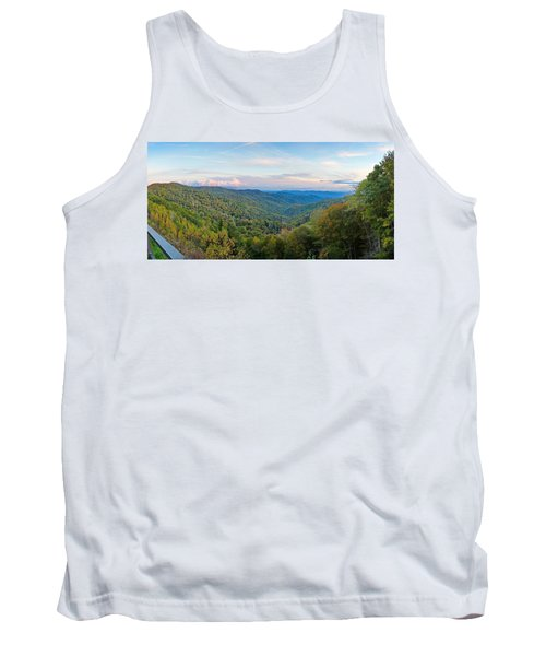 Panoramic October Views Of Smokey Mountain National Park Tank Top