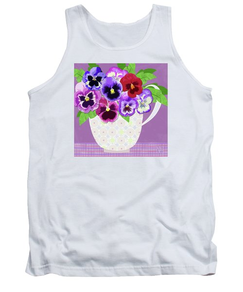 Pansies Stand For Thoughts Tank Top