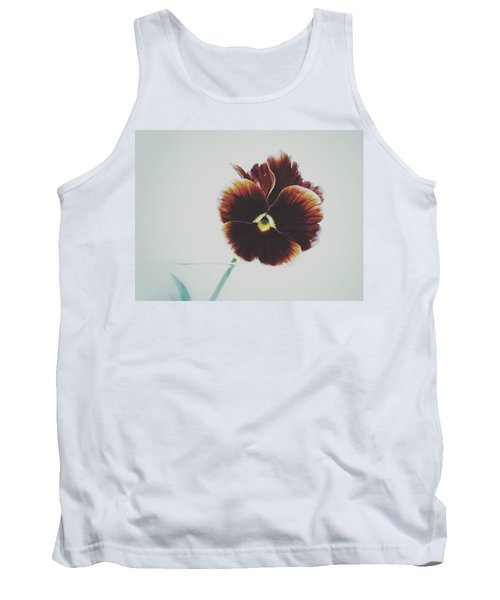 Pansy Face Tank Top by Karen Stahlros